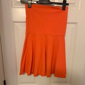 Orange stretch skirt/dress